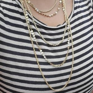 5 Chain Gold Layered Necklace
